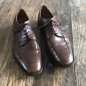 Tasso Elba Brown Leather Oxford Dress Shoes 11.5D